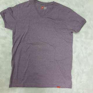 Bench Pastel Violet V-Neck T-Shirt