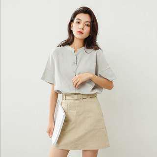 Basic Short Sleeve Blouse