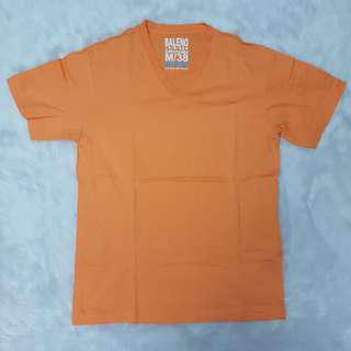 Baleno Orange V-neck T-shirt Top Tee Relaxed Fit