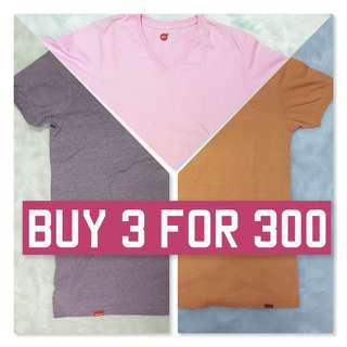 [Bundle] Bench Body T-Shirt V-Neck Promo Orange Violet Pink