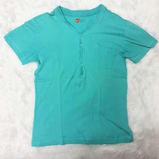 Bench Body Button T-shirt Blue Teal Top