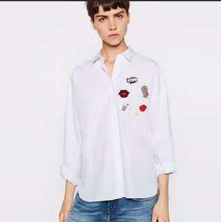 Zara Patches Tops