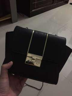 Charles and Keith CK CnK black bag