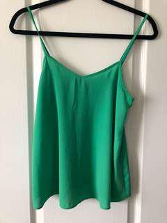Green strappy top