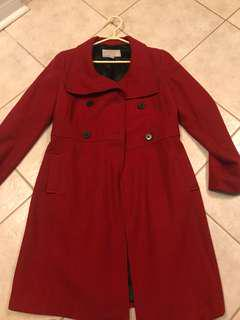 Old Navy Red Long Coat