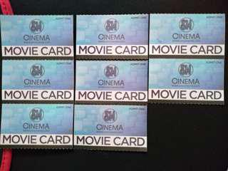 SM Cinema Movie Card Pass Tickets worth P250 for P180