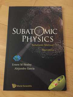 Subatomic Physics Solutions Manual