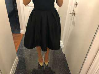 A-line, knee length skirt