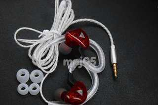 Earphones QKZ In-Ear Monitor w/ Mic Red - kz zs3, apple iphone earphones, sennheiser, skull candy