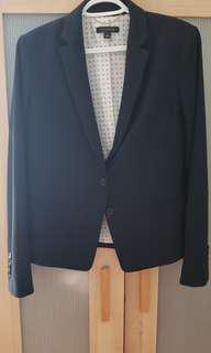 Ann Taylor Navy Blue Blazer in Size 6/Medium
