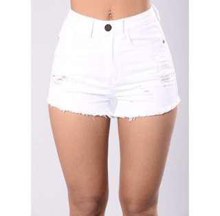 FashionNova White Shorts