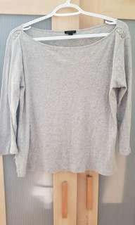 Ann Taylor Grey Top in Medium