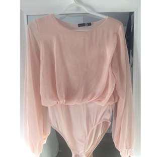 Pink Chiffon Bodysuit