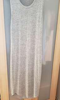 Wilfred Free Long Grey Dress in Medium