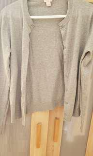 J Crew Grey Cardigan in Medium