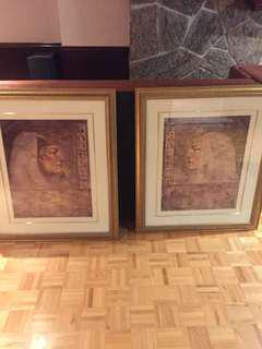 Egyptian man and woman picture with frames