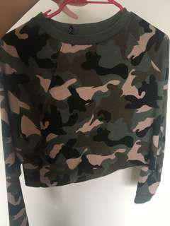 Camo cropped jumper