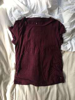American Eagle Soft & Sexy Burgundy T-shirt