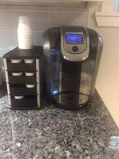 Keurig 2.0 machine and pod storage