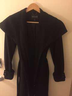 Seduce black coat size 6
