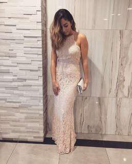 Blush lace gown
