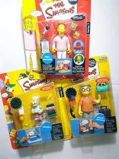 絕版 THE SIMPSONS Resort Smithers, Wendell, Troy McClure figure Playmates 吸塑