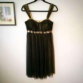 Brand New Black And Sand Tone Dress