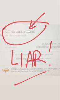 DIANDRA MARSYA NAMIRA Tipu2! Not Trustworthy!