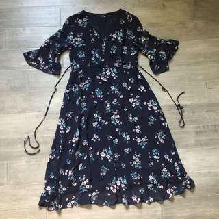 NEW Navy Floral Dress