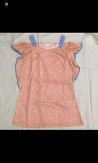 BN YOCO pastel pink off shoulder shift dress