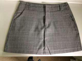 Short plaid skirt