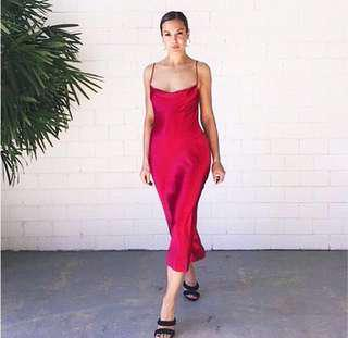 ✨Bec and Bridge lookalike red slip dress