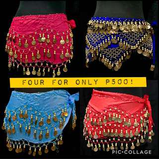 SALE: Belly Dancing Belts with Gold Coins! 4 belts for P500!