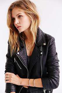 Mackage Leather Jacket (NEW)-XS