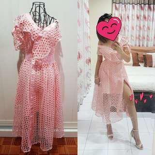 Ruffles Irregular Dress