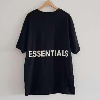 Fear of God FOG Essentials Boxy Logo Tee Black Size M