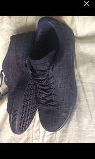 Puma suede monochrome shoes