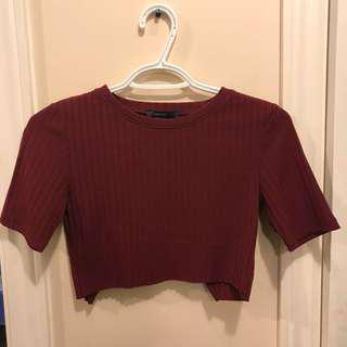 Forever 21 cropped top w/ open back