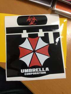 Resident Evil (Umbrella Corporation) Slim IU Unit Decal
