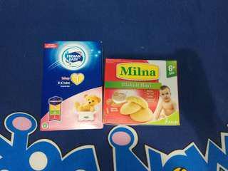 Susu Frisian Flag Baby Tahap 1 FREE Biskuit Milna