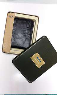 Fossil Men's Real Leather Wallet with Gift Box