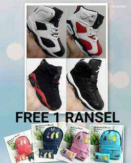 Sepatu Basket Anak Jordan Sepatu anak Bonus Tas