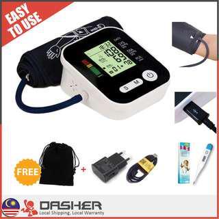 【LATEST】5in1 USB High Accuracy Arm Blood Pressure Heart Monitor Thermometer Heart Rate Darah Tinggi