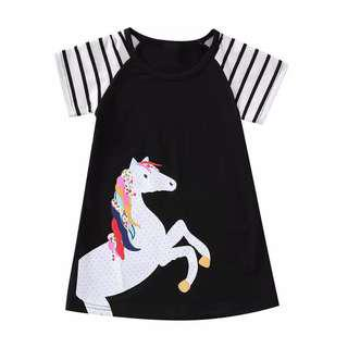 READY STOK!! DRESS UNICORN GIRLY.