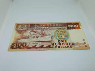 $100 old note