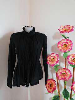 Black formal blouse 2