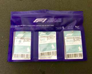 2018 Singapore F1 Grand Prix - 3-day Premier Walkabout tickets