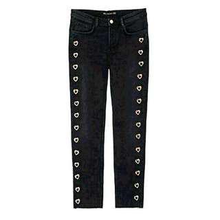Zara Black Heart Skinny Jeans