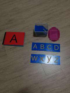 Wooden Alphabet tracing set A-Z
