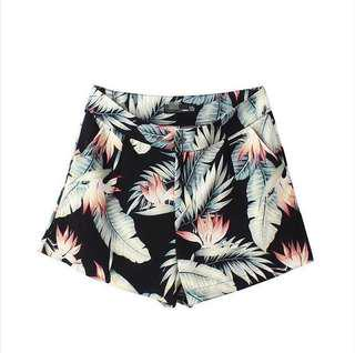 🚚 Tropical Hight Waisted Shorts